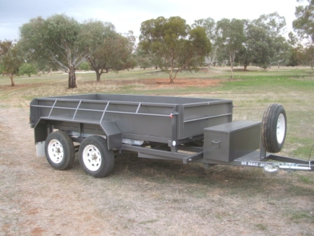 Loadmaster Tipper Trailer 10X5 450mm High sides with ramps